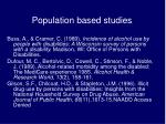 population based studies