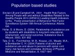 population based studies7