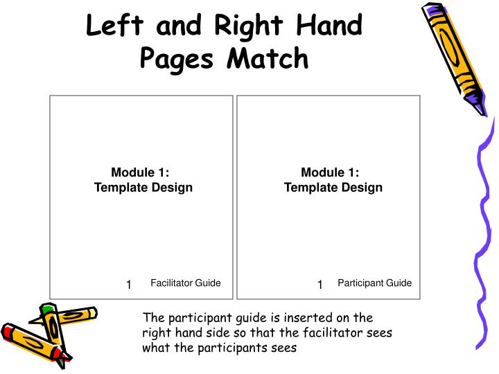 Left and right hand pages match