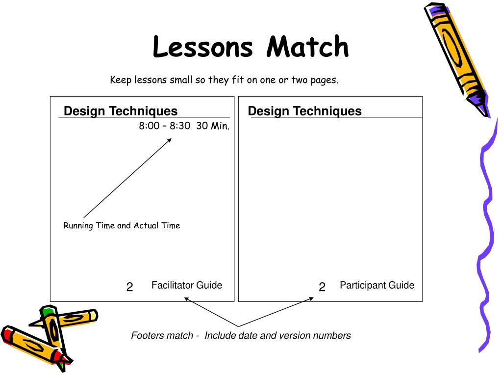 Lessons Match