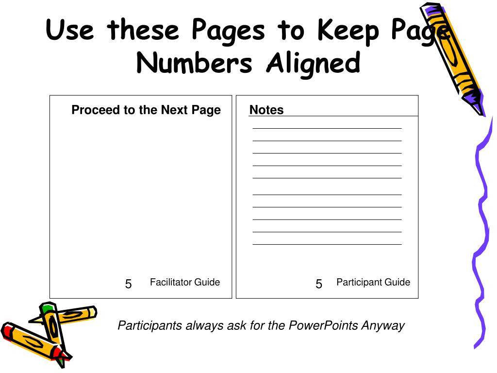 Use these Pages to Keep Page Numbers Aligned
