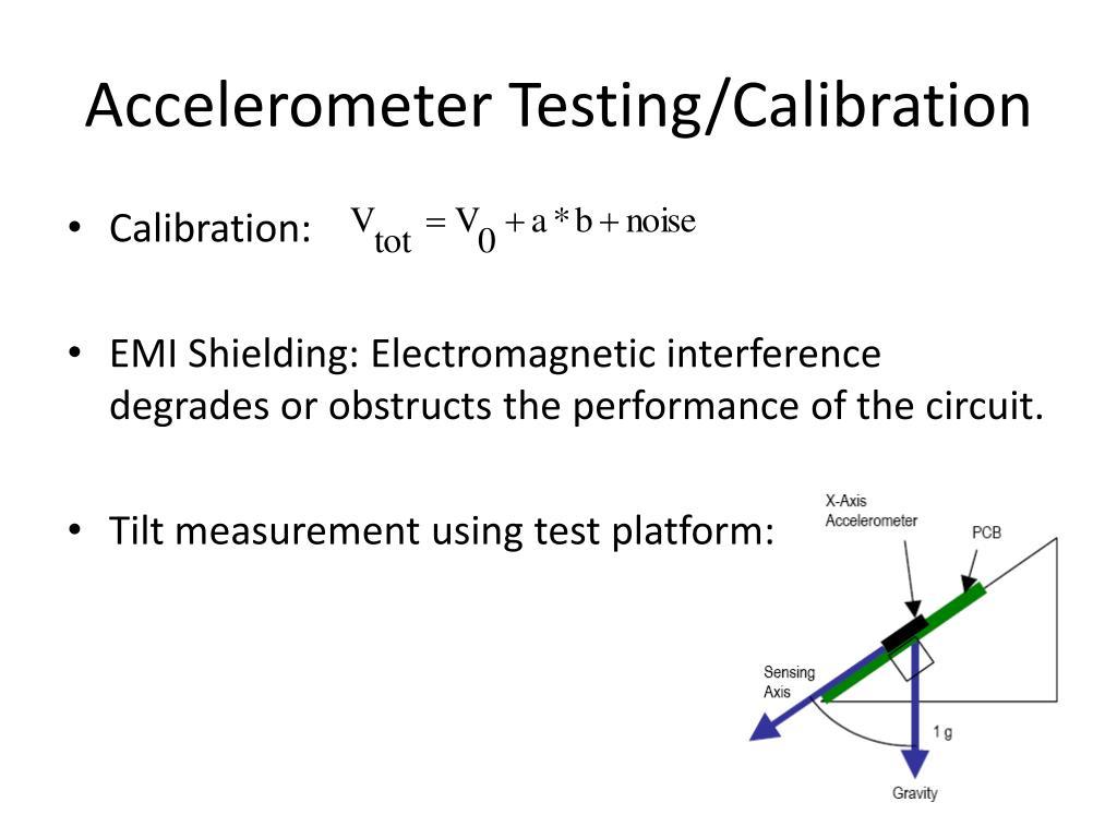 Accelerometer Testing/Calibration