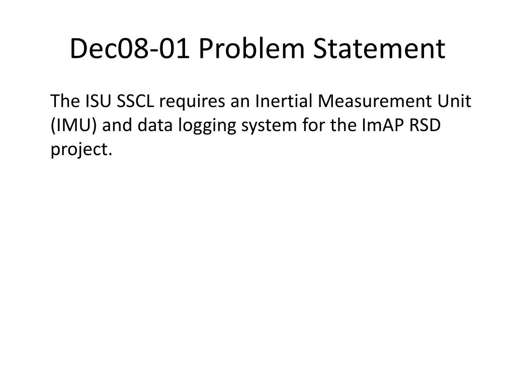 Dec08-01 Problem Statement
