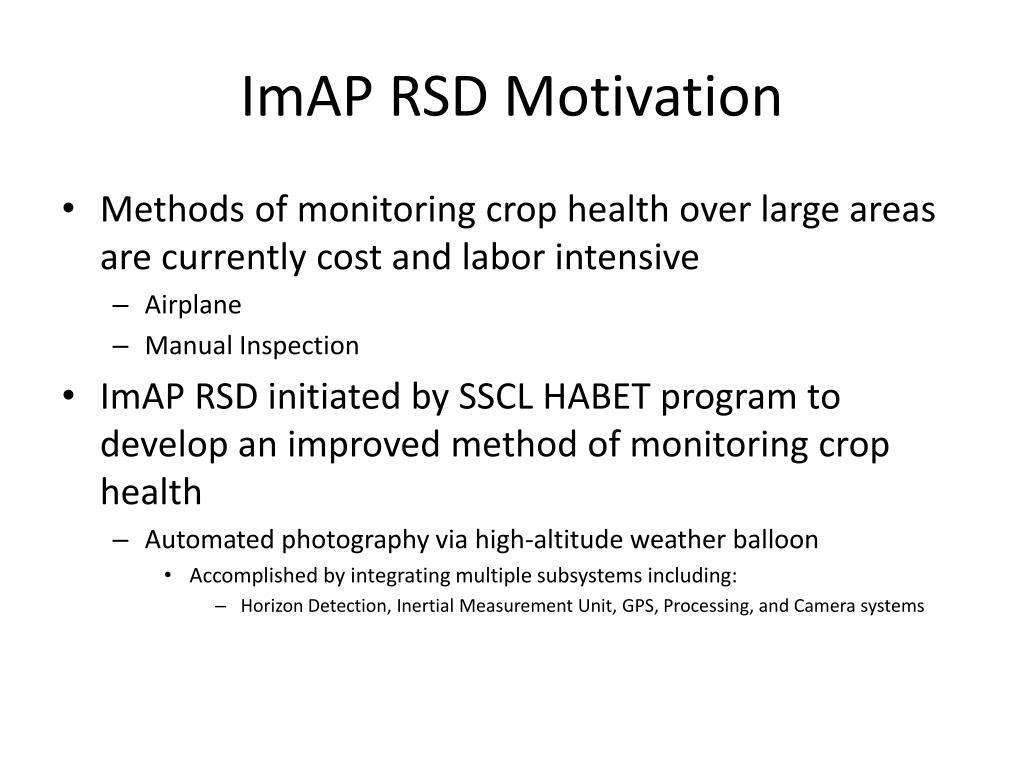 ImAP RSD Motivation