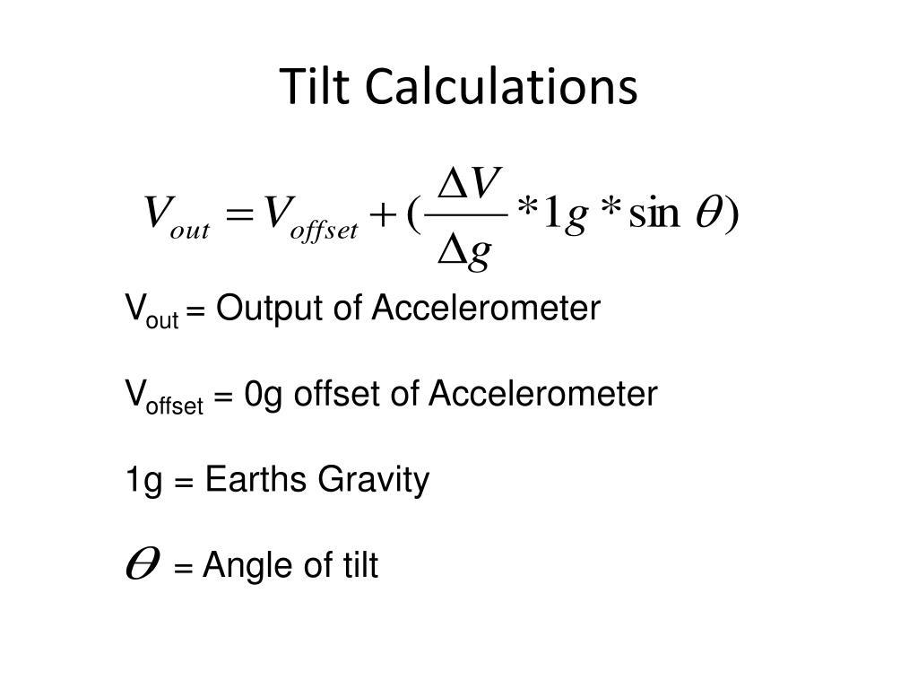 Tilt Calculations