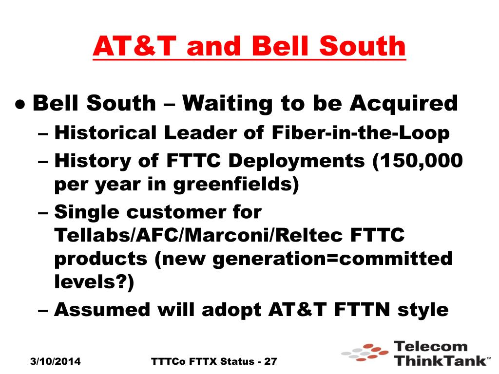 AT&T and Bell South