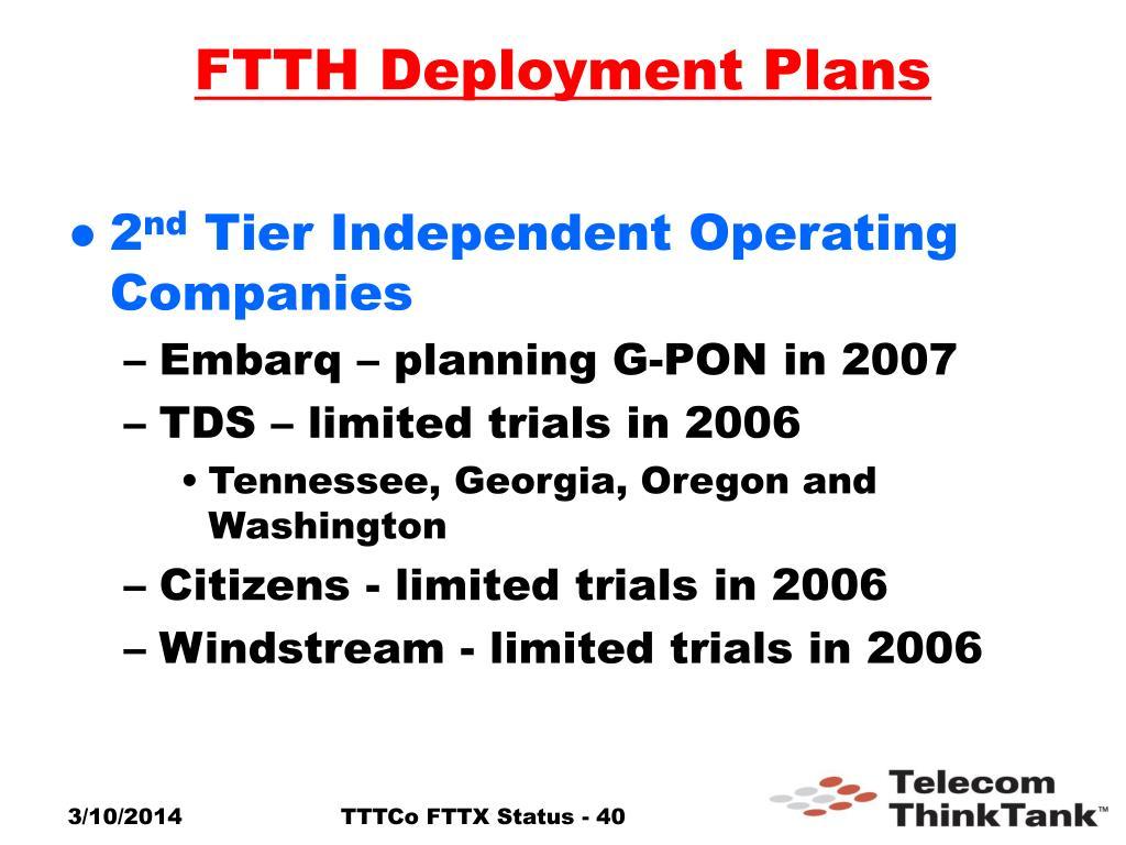 FTTH Deployment Plans