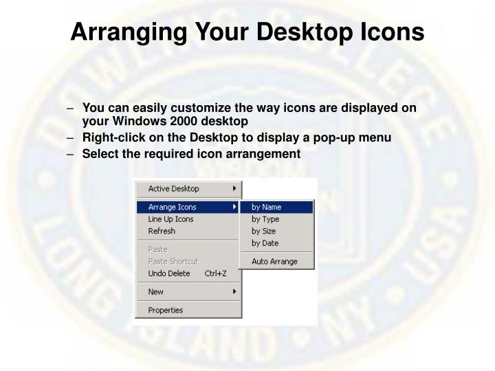 Arranging Your Desktop Icons