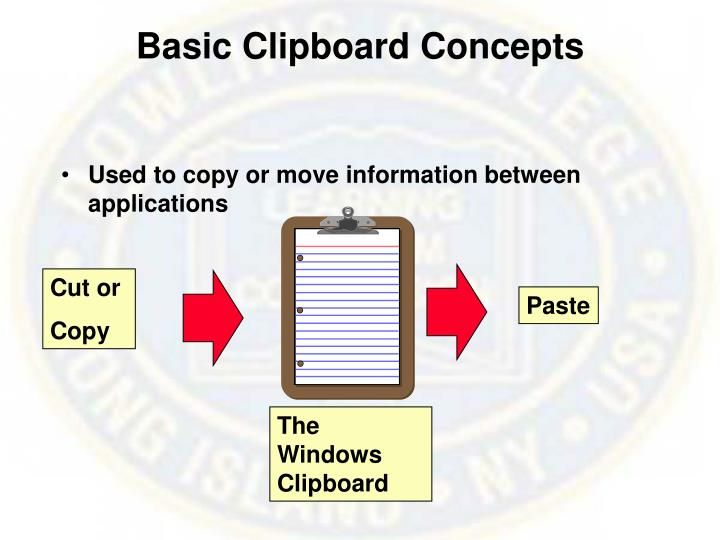 Basic Clipboard Concepts