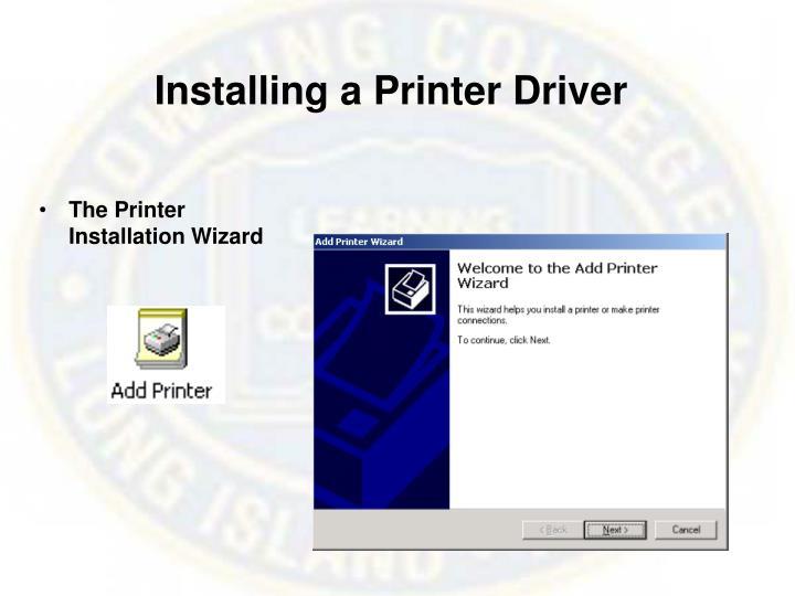 Installing a Printer Driver