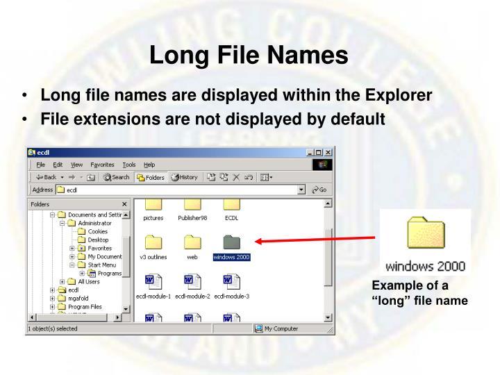 Long File Names