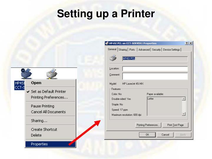 Setting up a Printer