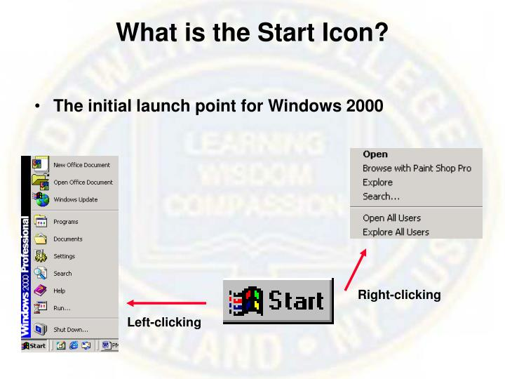 What is the Start Icon?