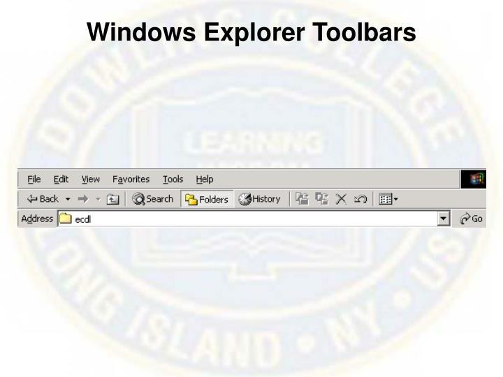 Windows Explorer Toolbars