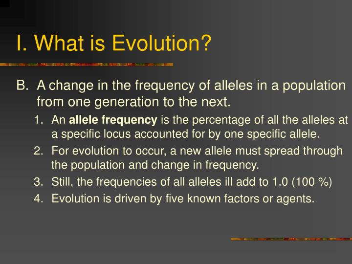 I what is evolution3