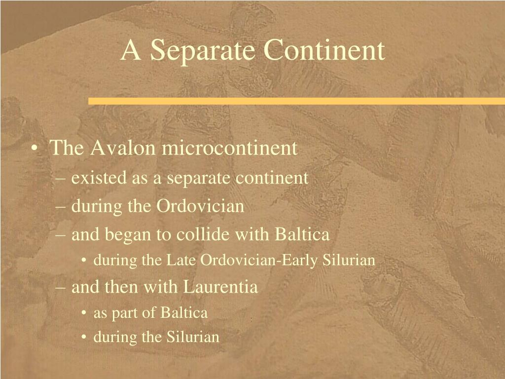A Separate Continent