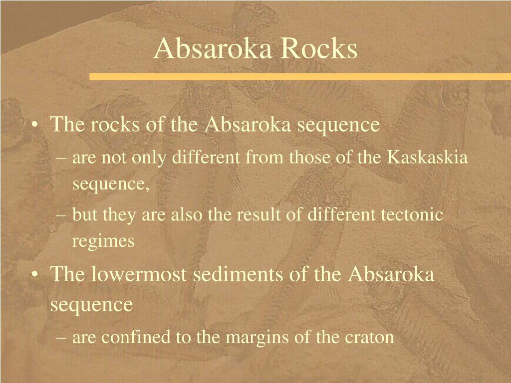 Absaroka Rocks