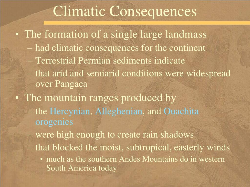 Climatic Consequences
