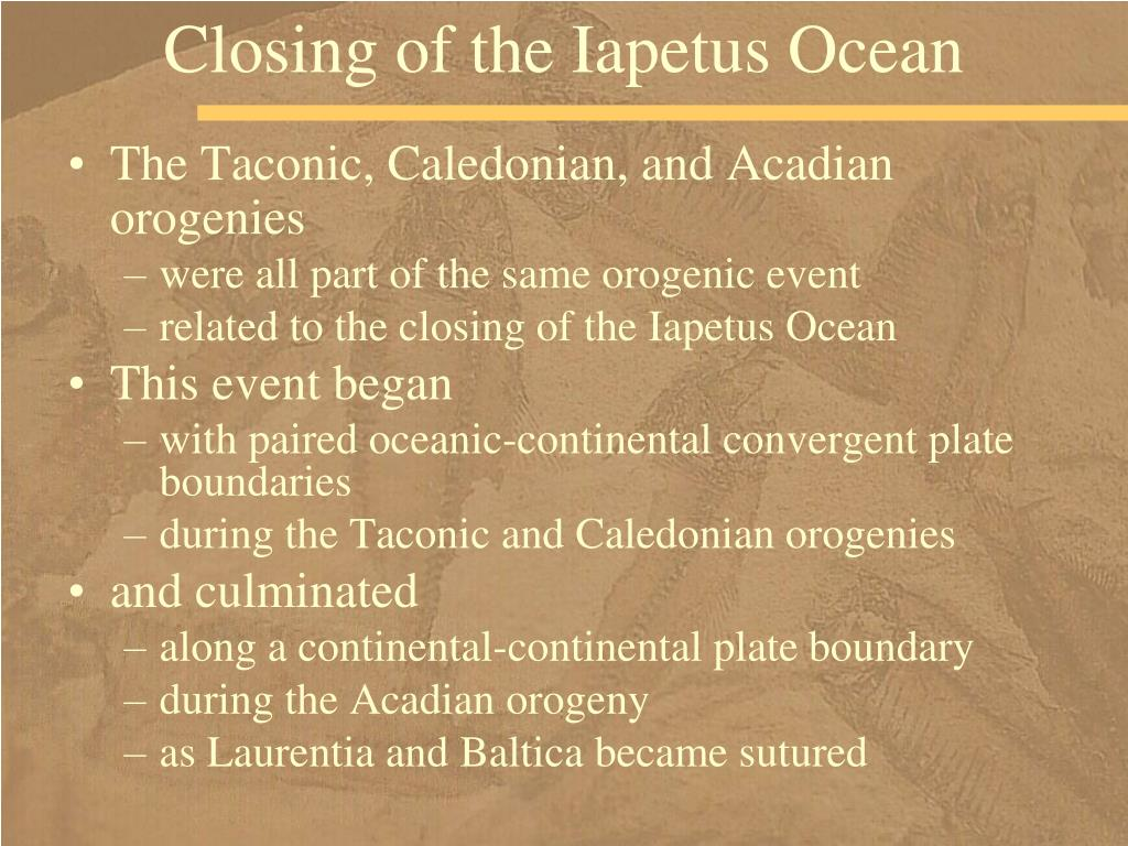 Closing of the Iapetus Ocean