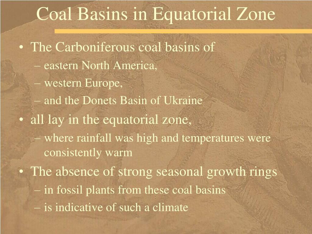 Coal Basins in Equatorial Zone