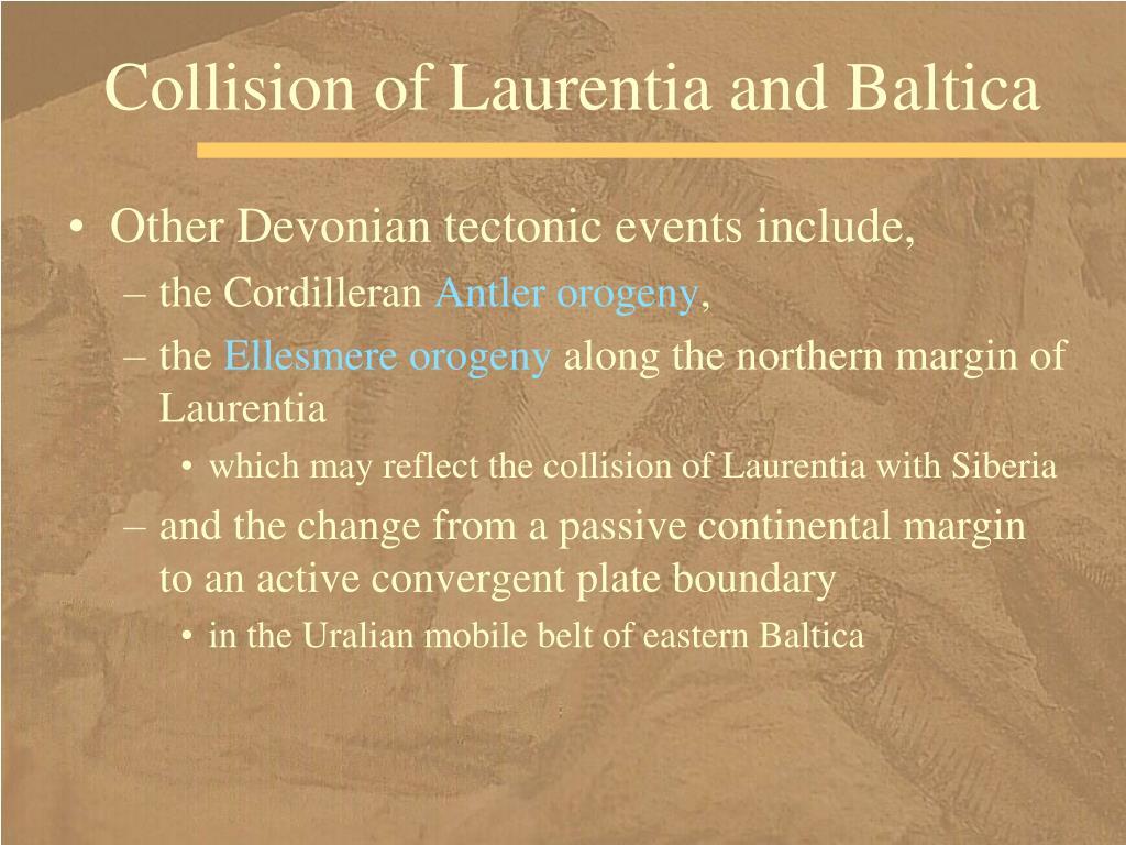 Collision of Laurentia and Baltica