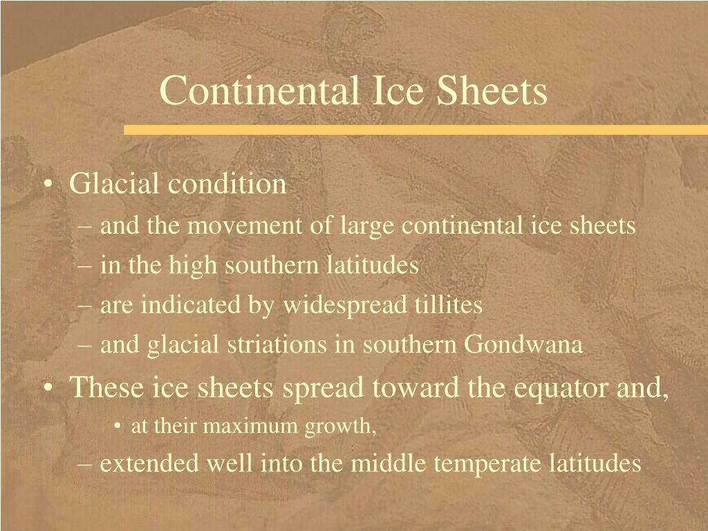 Continental Ice Sheets
