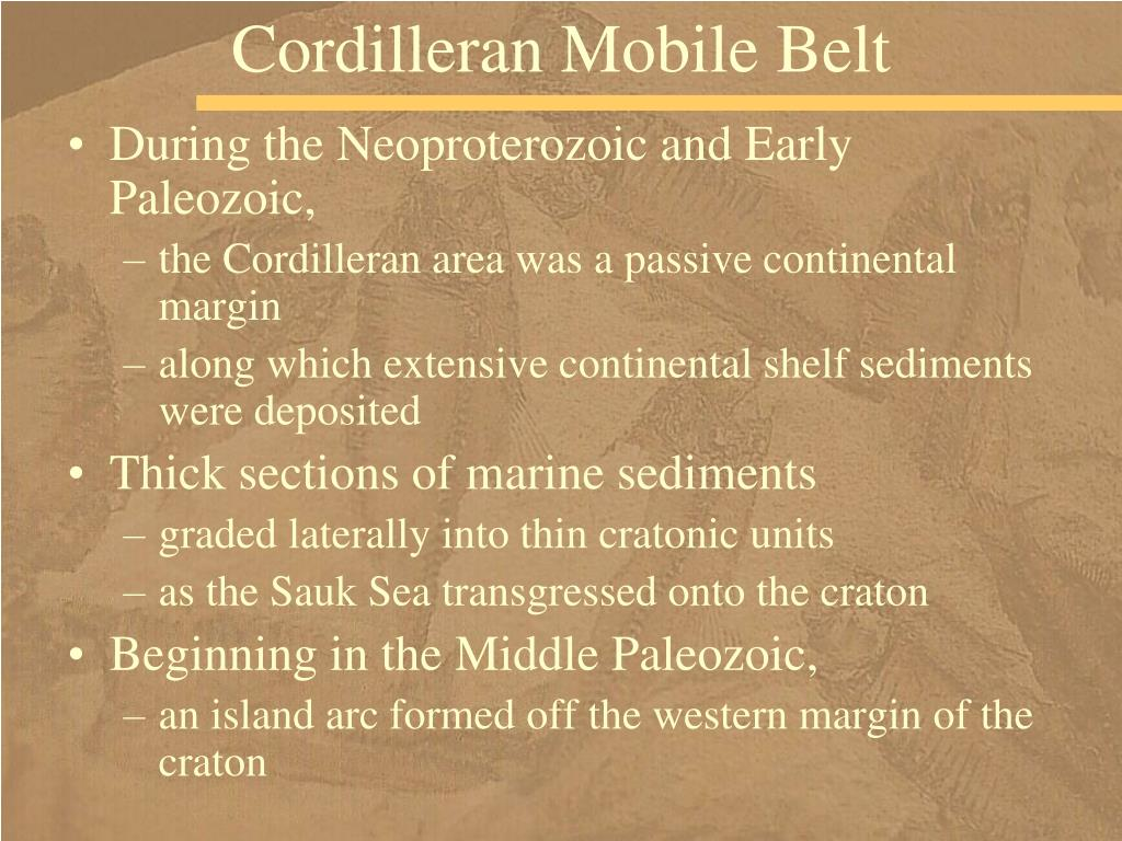 Cordilleran Mobile Belt