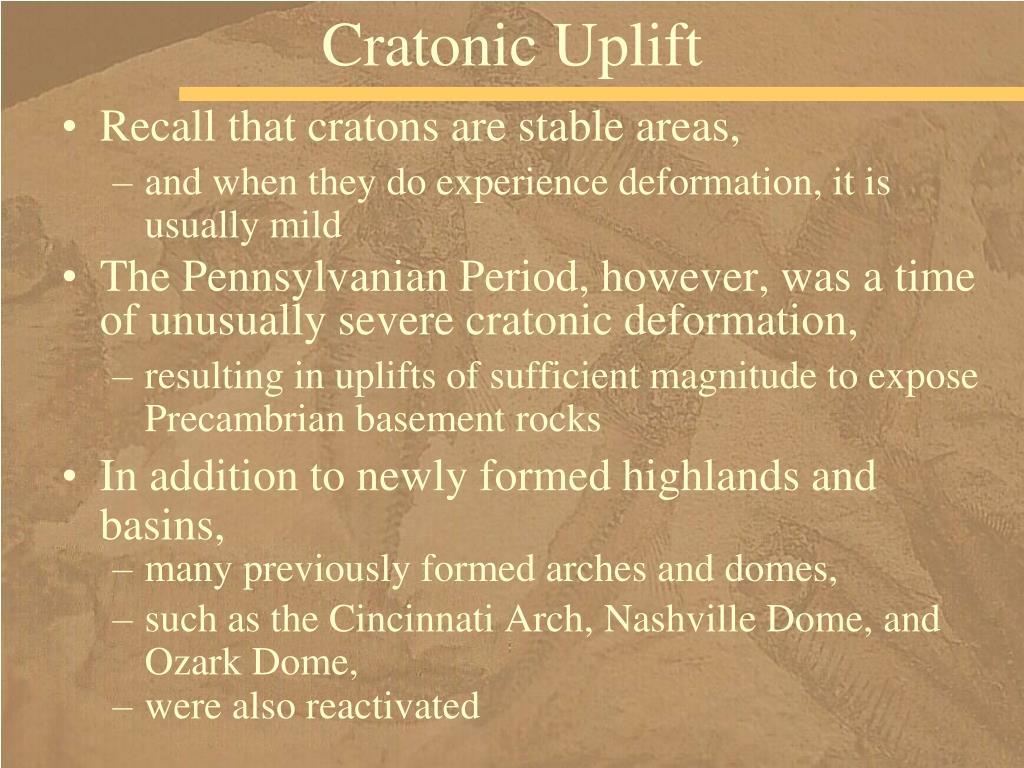 Cratonic Uplift