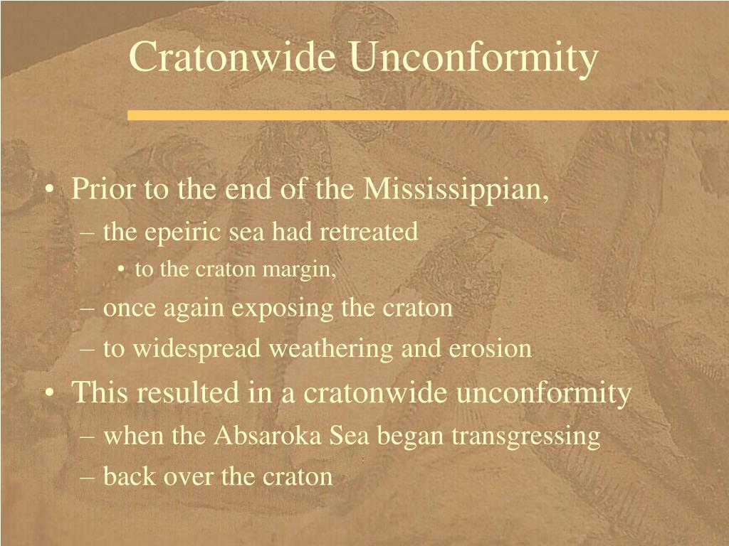 Cratonwide Unconformity