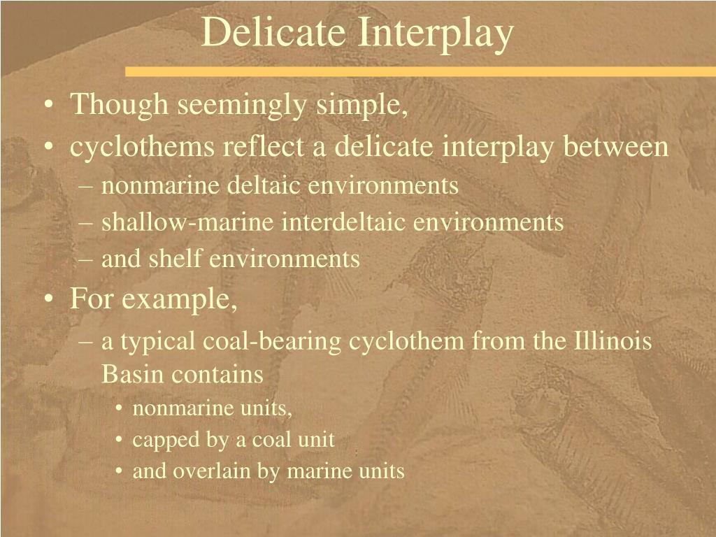 Delicate Interplay