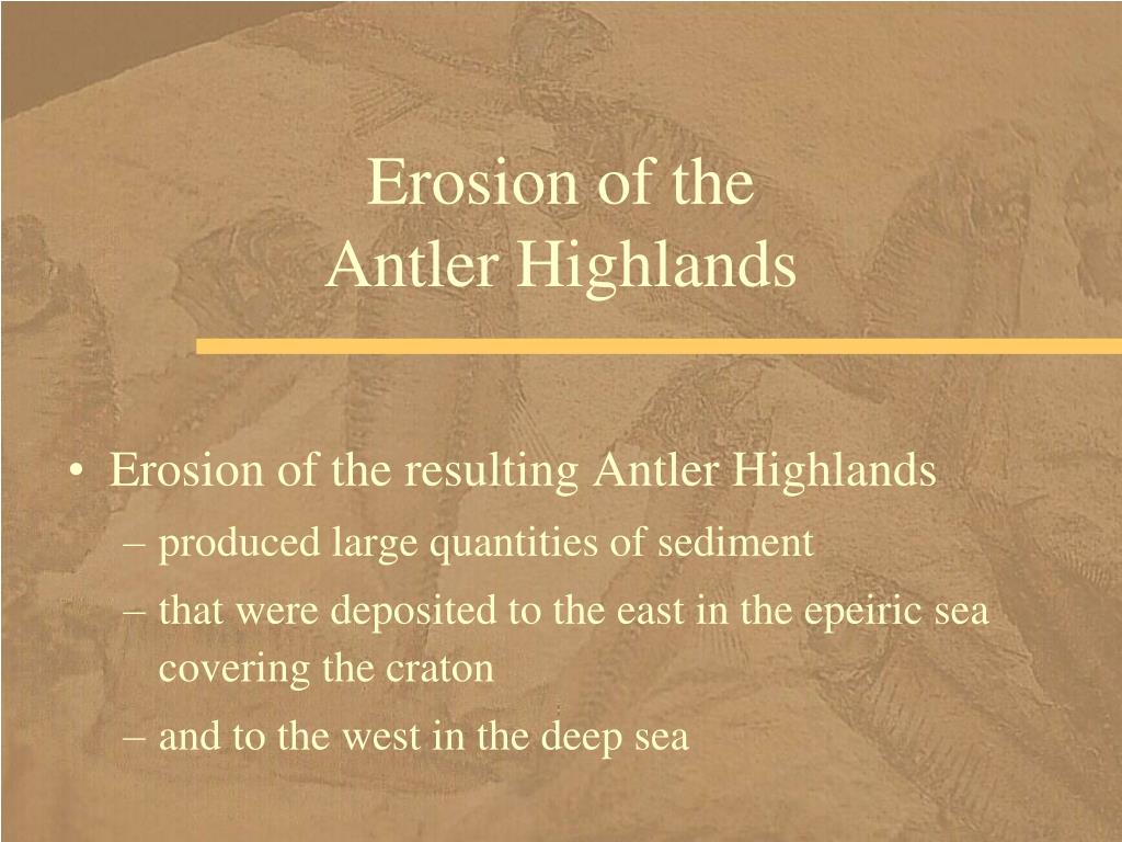 Erosion of the