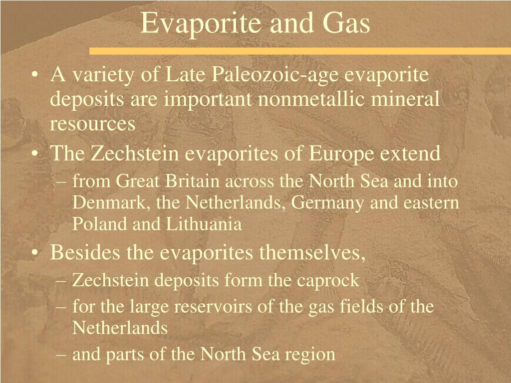 Evaporite and Gas