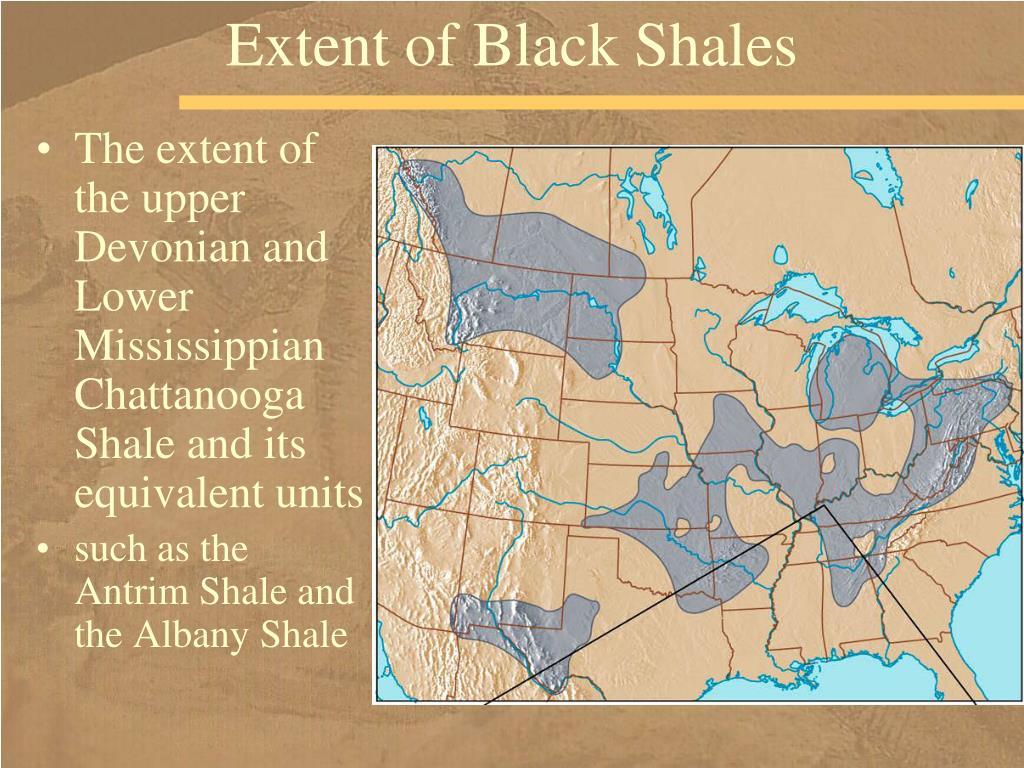 Extent of Black Shales