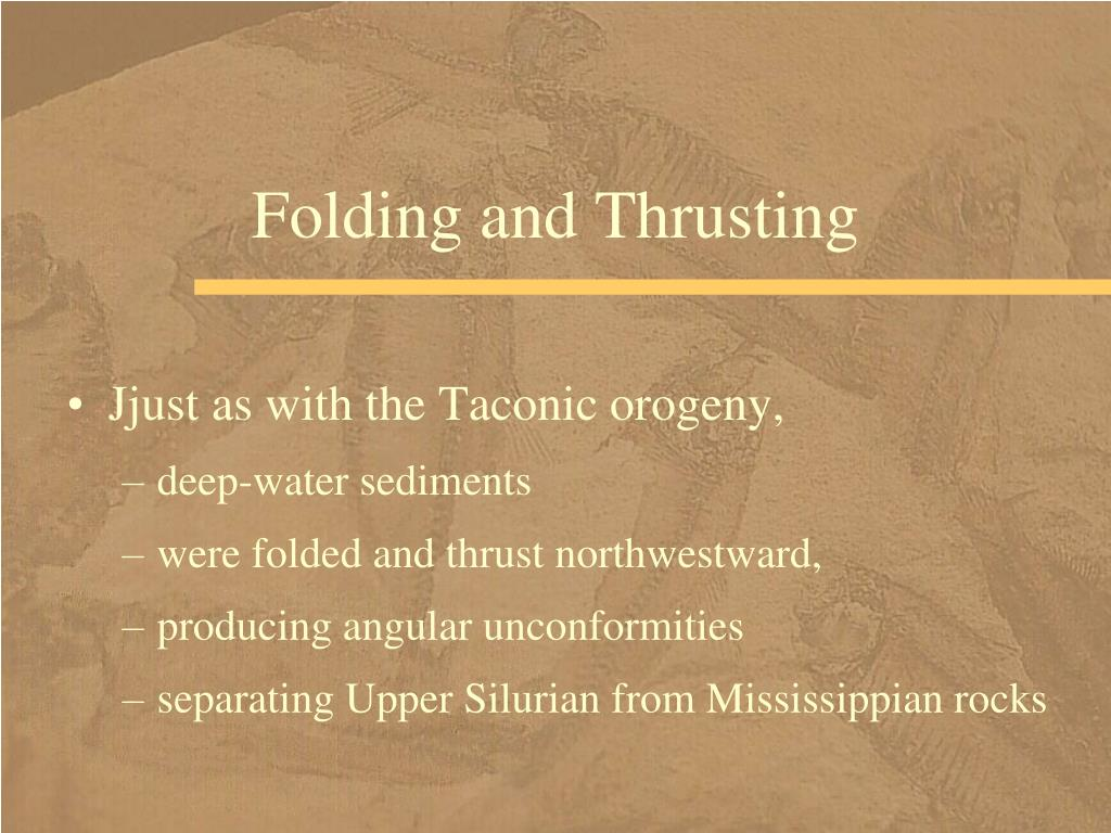 Folding and Thrusting