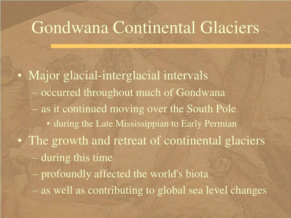 Gondwana Continental Glaciers