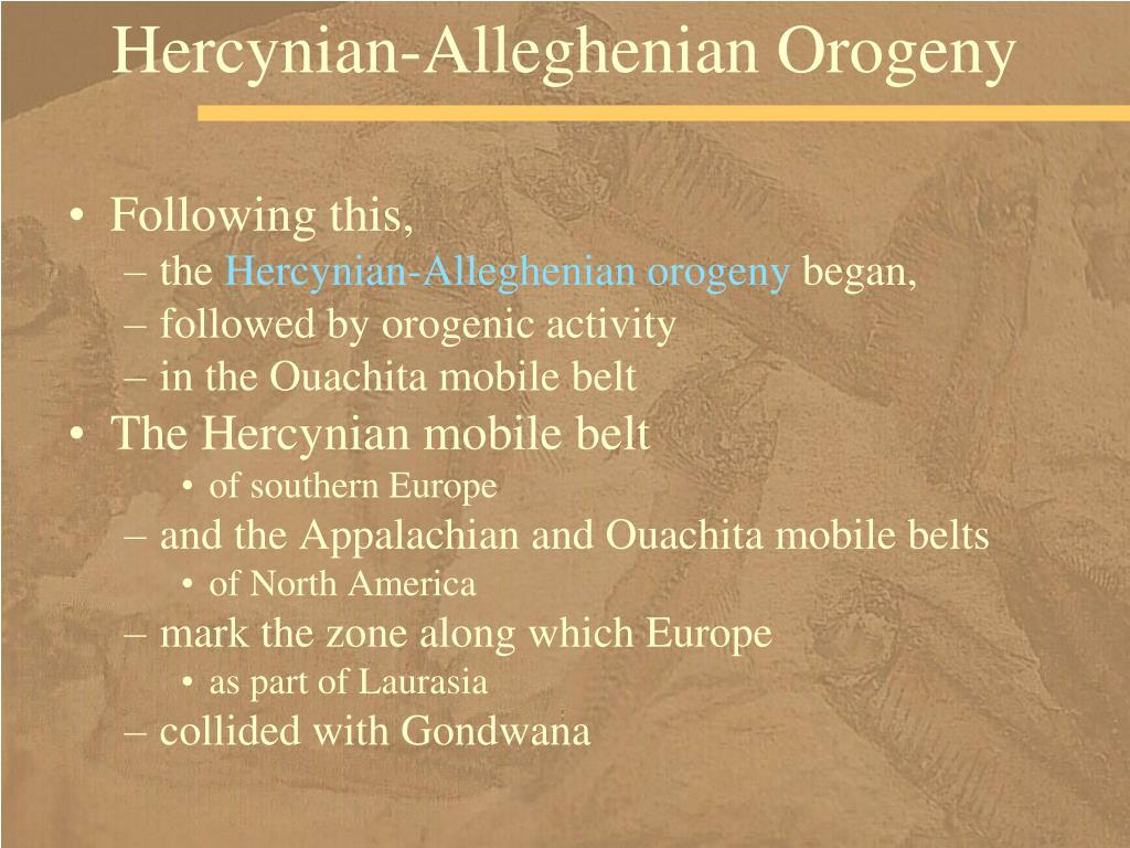Hercynian-Alleghenian Orogeny