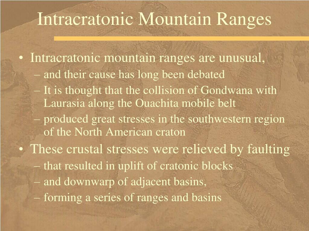 Intracratonic Mountain Ranges