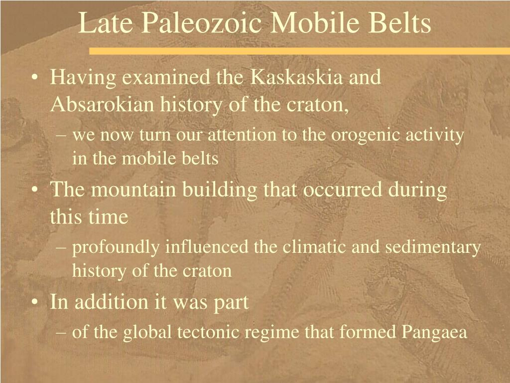 Late Paleozoic Mobile Belts
