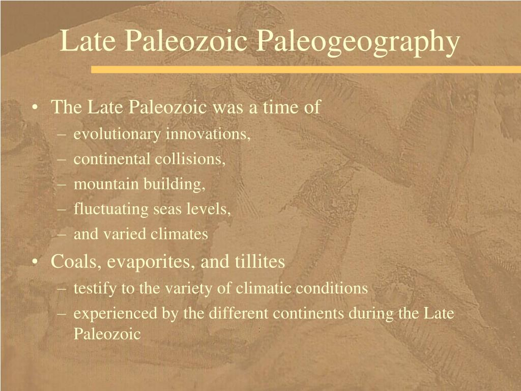 Late Paleozoic Paleogeography