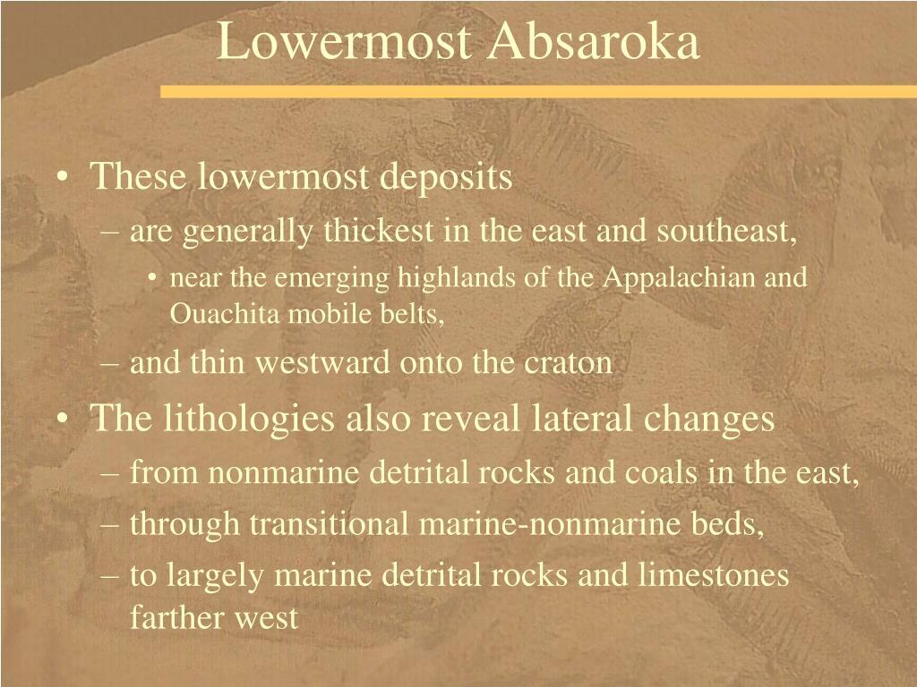 Lowermost Absaroka