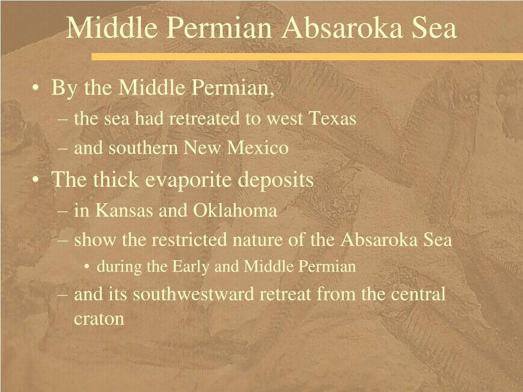 Middle Permian Absaroka Sea
