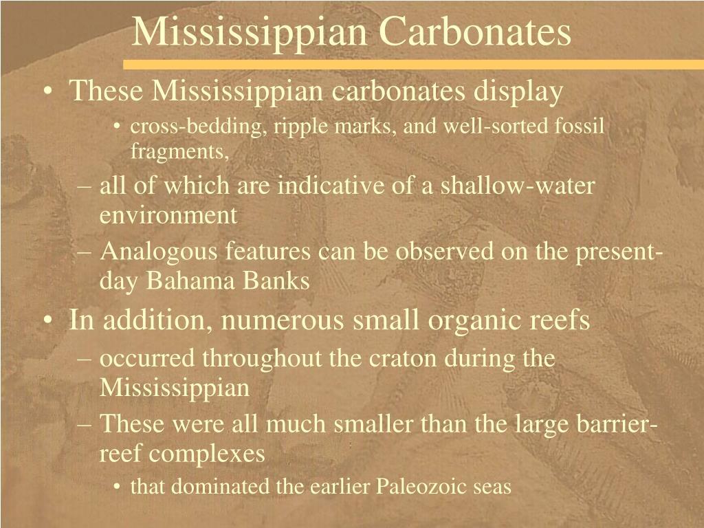 Mississippian Carbonates