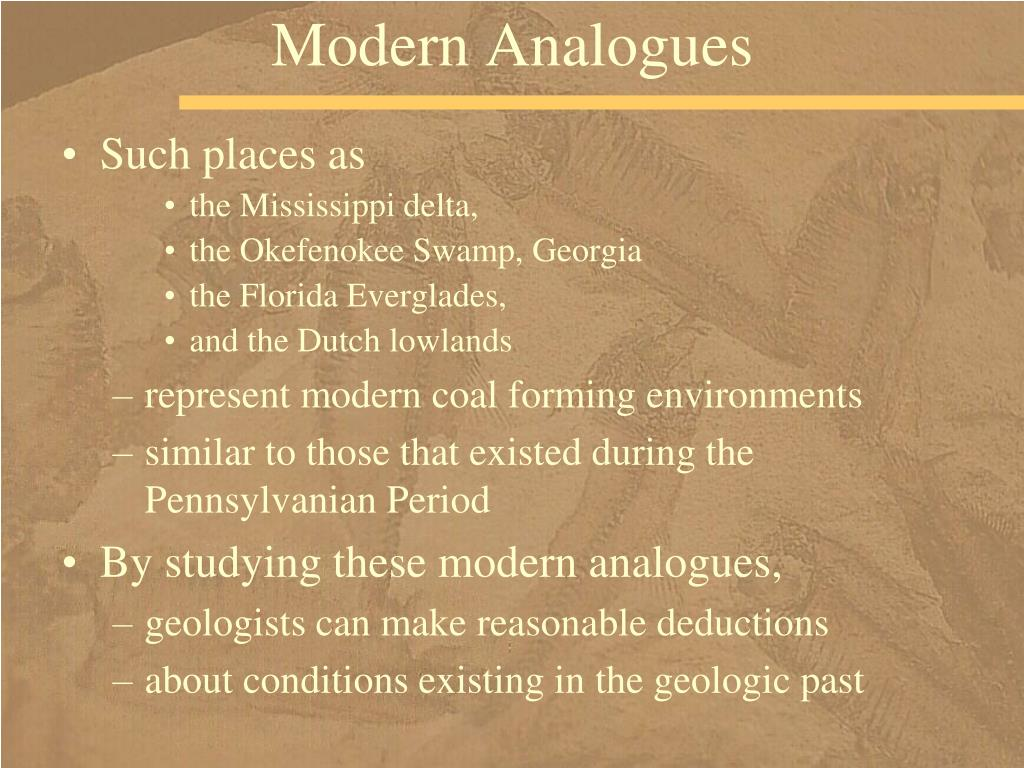Modern Analogues