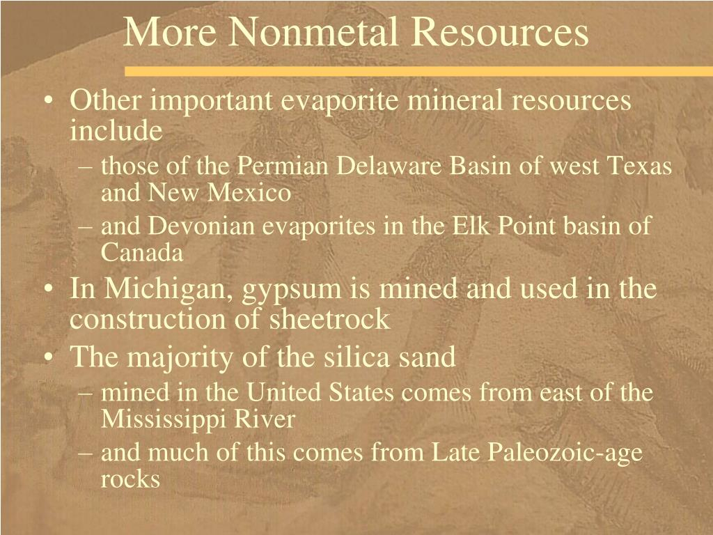More Nonmetal Resources