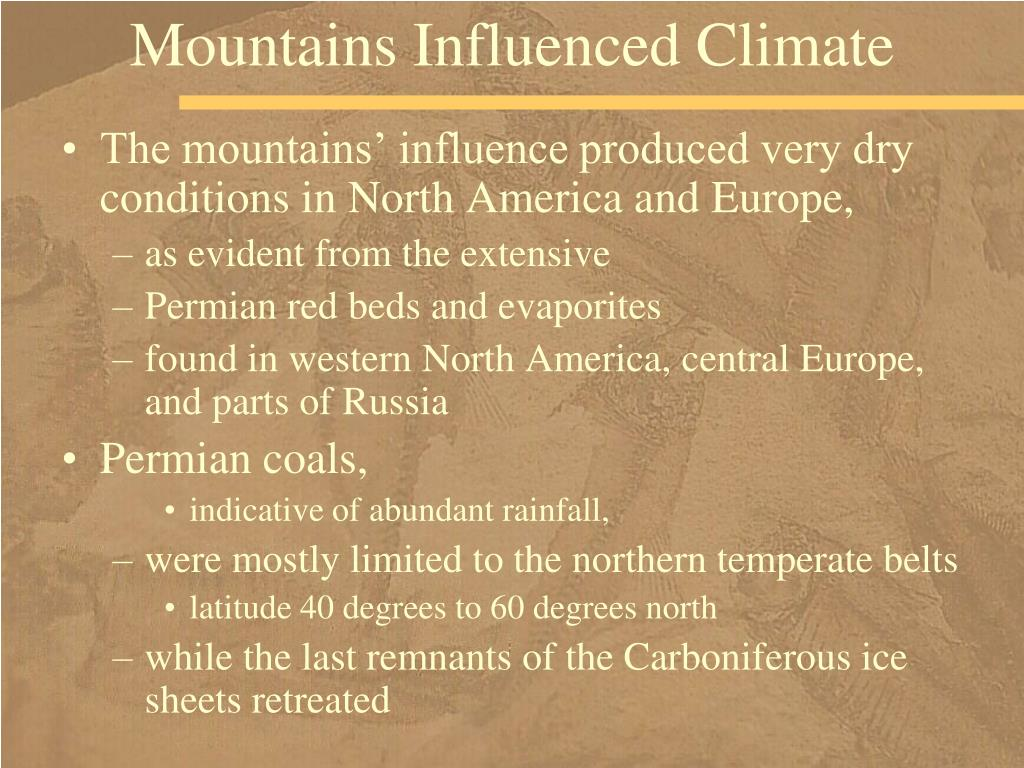 Mountains Influenced Climate