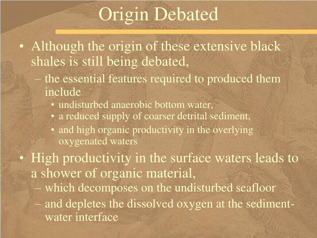 Origin Debated