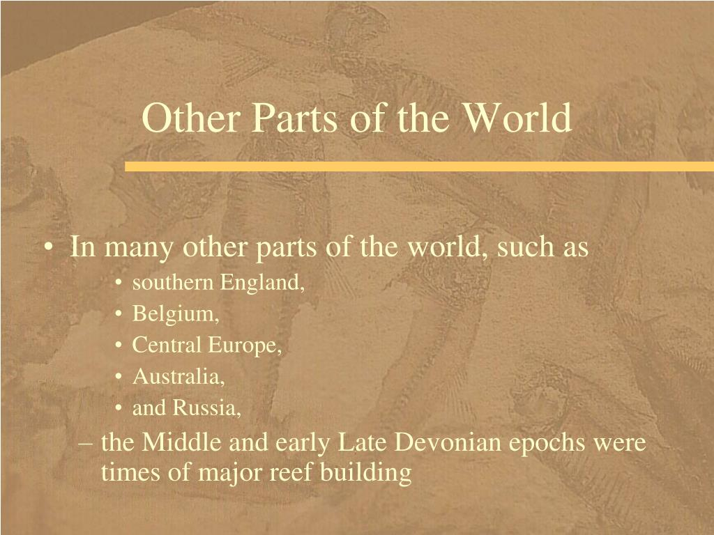Other Parts of the World