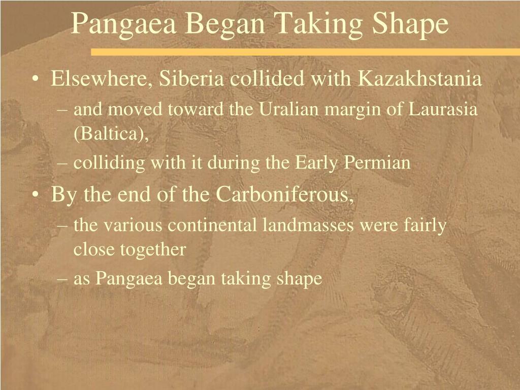 Pangaea Began Taking Shape
