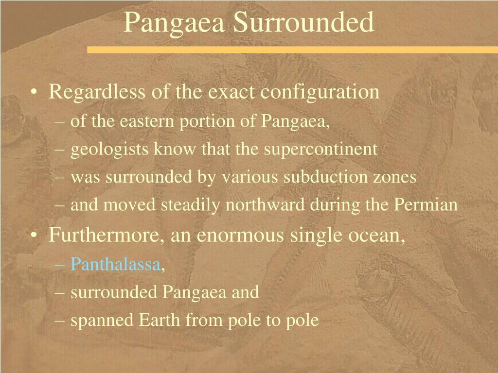 Pangaea Surrounded