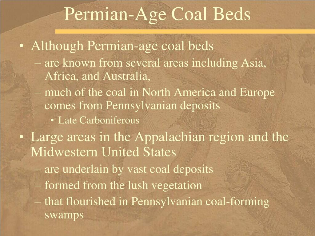 Permian-Age Coal Beds